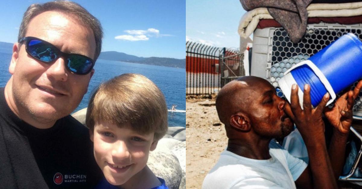11-Jähriger erstaunt Papa durch Umgang mit Obdachlosen.