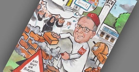 Moschee-Gegner schmuggeln Karikatur in SPÖ-Wahlwerbesackerl