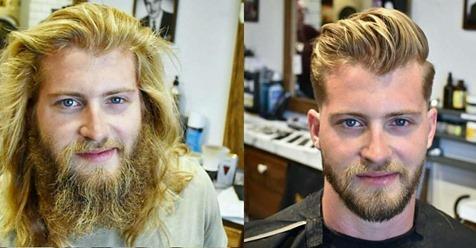 16 Männer, die nach Jahren wieder zum Friseur gegangen sind