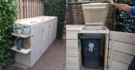 Den Mülleimer lieber aus dem Sichtfeld? Werfen Sie einen Blick auf diese intelligenten und schönen Ideen, um Ihren Mülleimer aus dem Sichtfeld wegzuschaffen! von DIY Bastelideen