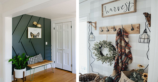 10 preisgünstige Ideen, wie Sie Ihre Eingangshalle in einen schönen Eingang verwandeln können!