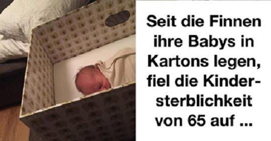3 Gründe, um Ihr Baby in einer Kartonbox schlafen zu lassen… Super Idee aus Finnland!