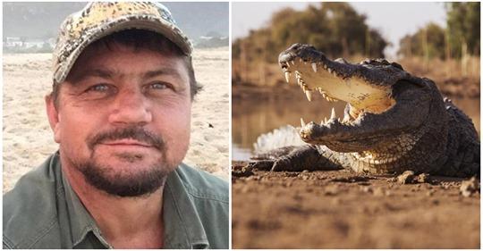 Trophäenjäger, der Jagd auf Elefanten und Löwen gemacht hatte, wird von Krokodilen gefressen
