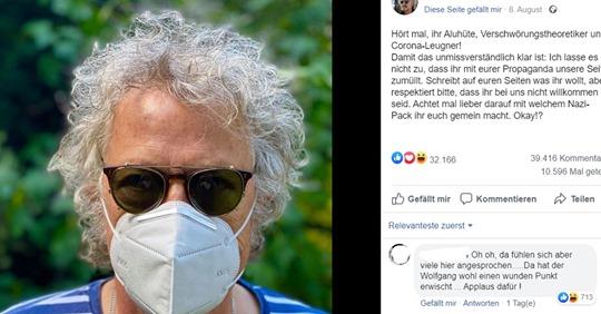 'Hört mal, ihr Aluhüte': Wolfgang Niedecken will keine Corona-Leugner auf seiner Seite