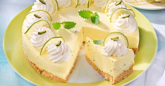 Limetten-Quark-Torte