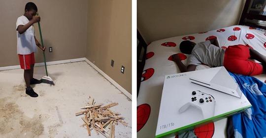 Vater kauft Sohn neue Xbox, wenn dieser dafür arbeitet