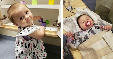 21 Monate altes Mädchen besiegt Krebs im 4. Stadium nach 15 Monaten Chemotherapie