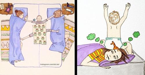 16 Zeichnungen übers Muttersein von Jade Nordahl