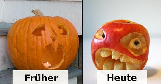 11 mal geschnitztes Obst und Gemüse für Halloween