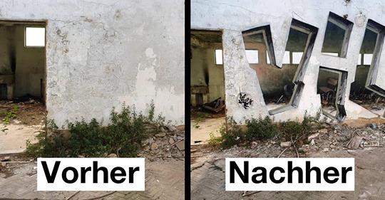 16 Graffitis: Da wird das Gehirn an der Nase herumgeführt