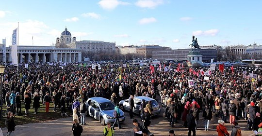 Österreich steht auf!: Großdemo gegen Corona Politik am Montag