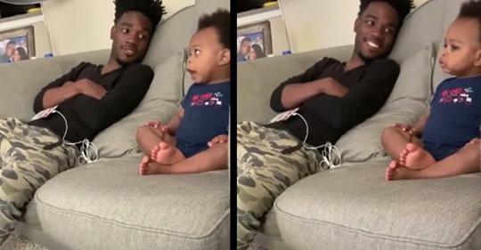 """Süßes Video: DJ Pryor """"unterhält"""" sich mit brabbelndem Sohn"""