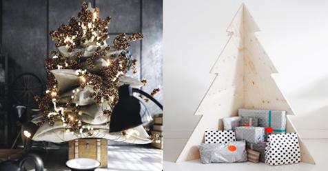Keine Lust mehr auf einen traditionellen Weihnachtsbaum?! Vielleicht sind diese alternativen, trendy Weihnachtsbäume etwas für Sie!