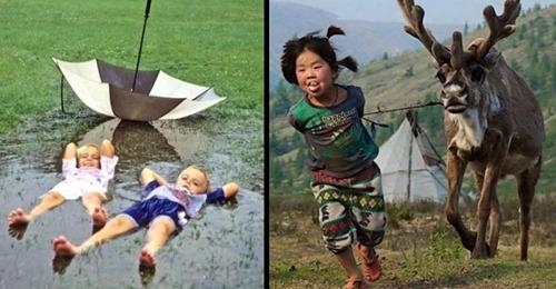 15 Fotos zeigen, wie unterschiedlich Kindheit sein kann