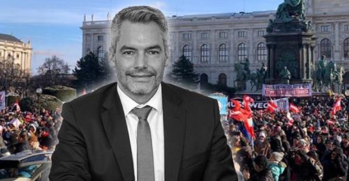 Scharfmacher Nehammer bezeichnet friedliche Demonstranten als Gegner