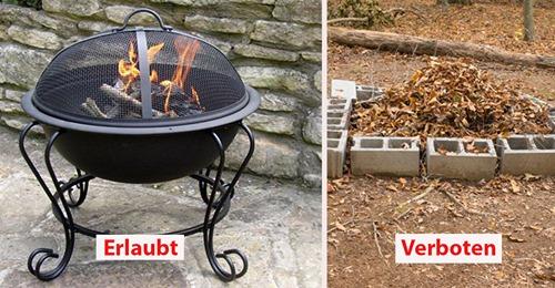 Gartenrecht: Was du bei deiner Feuerstelle beachten musst