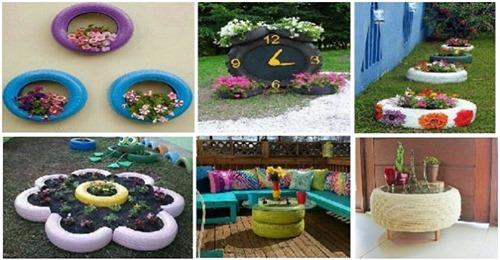 Verwenden Sie (alte) Reifen, um Ihren Garten und Interieur ein tolles Upgrade zu verleihen!
