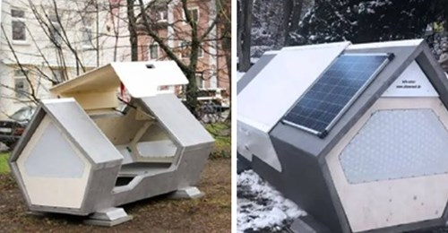 """Ulm stellt sogenannte """"Nester"""" für obdachlose Menschen auf – damit sie schlafen können und nicht erfrieren"""