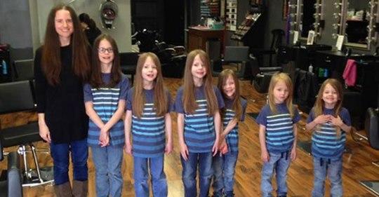 Sechs jahrelang wegen ihrer langen Haare gemobbte Brüder: Sie hatten sie wachsen lassen, um sie für wohltätige Zwecke zu spenden