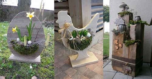 Aus Holz gestalten Sie die schönsten Frühlingsdekorationen. 10 Ideen, die Sie unbedingt sehen müssen!
