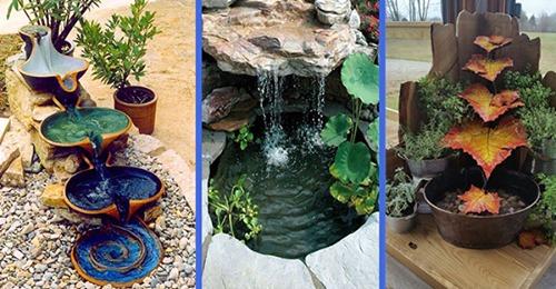 Ein kleines Wasserbecken im Garten ist immer eine wunderbare Idee!