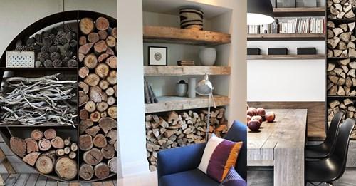 Haben Sie einen Kamin? 9 originelle Möglichkeiten, Ihr Brennholz zu lagern.