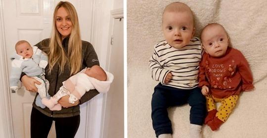 Frau bringt Zwillinge zur Welt, nachdem sie während einer Schwangerschaft erneut schwanger geworden ist