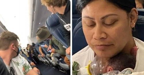 Eine Frau entbindet unerwartet während eines kommerziellen Fluges:  Ich wusste nicht, dass ich schwanger war!