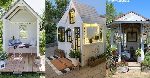 Das sollte eigentlich nicht in Ihrem Garten fehlen, 8 super gemütliche Gartenhäuschen.