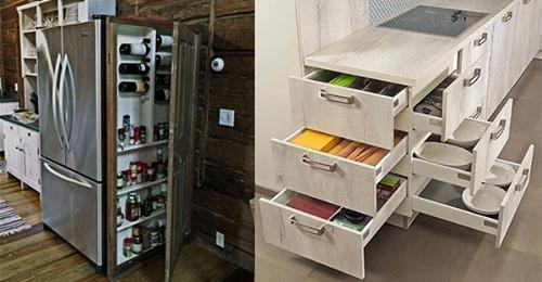 Fantastische Tipps, um zusätzlichen Raum in der Küche zu schaffen und so gut wie möglich einzurichten.