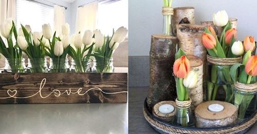 Werden Sie auch so fröhlich von Blumen? Dann machen Sie diese 8 Blumen-Dekorationsideen bestimmt sehr fröhlich!
