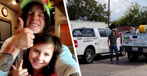 Einem Kunden gefällt es nicht, dass dieser alleinerziehende Vater seine Tochter mit zur Arbeit bringt: