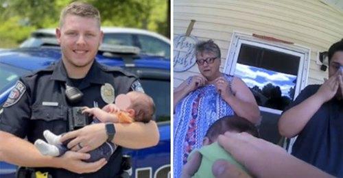 Polizist rettet drei Wochen altem Baby das Leben, das zu ersticken droht