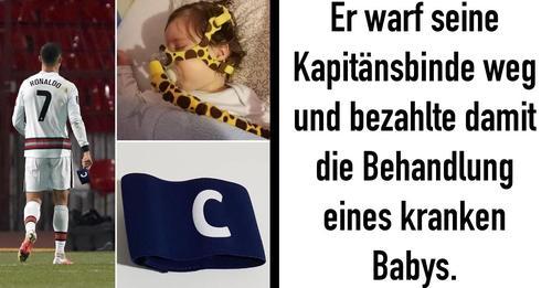 Serbien: Ronaldos Kapitänsbinde hilft krankem Baby Gavrilo