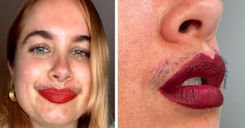 """Sie hebt ihren Schnurrbart mit Mascara hervor und trotzt allen Schönheitsstandards: """"Es ist normal, behaart zu sein."""""""