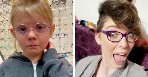Kleines Mädchen ist traurig, weil sie eine Brille wird tragen müssen: Die Webnutzer trösten sie, indem sie ihr ihre Blickwinkel zeigen