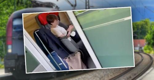 Heuchelei in vollen Zügen: Stinkefinger-Grüne Maurer fährt ohne Maske im Railjet!