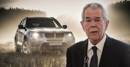 Bello Express: SUV Konvoi eskortiert Präsident nach Klima Rede ins Lokal