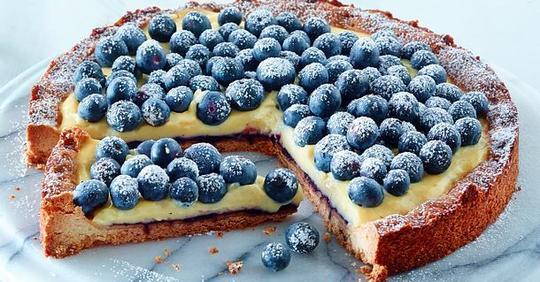Blaubeer-Puddingkuchen