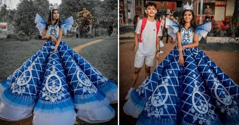 Wahre Geschwisterliebe: Junge näht für Schwester Kleid für Abschlussball