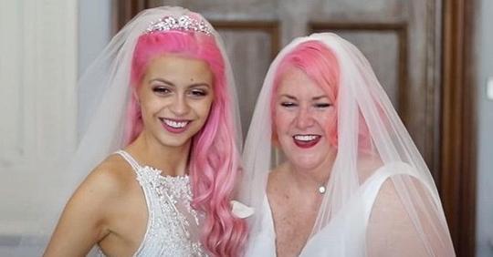 Lesbisches Paar mit 37-jährigem Altersunterschied ist offiziell verheiratet