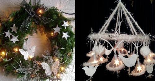 Weihnachts  und Winterkränze machen Sie mit LED Beleuchtung noch viel besonderer… 13 schöne Ideen!