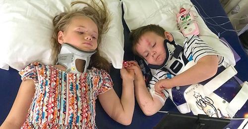 Nach schrecklichem Autounfall, bei dem sie ihre Eltern verloren, sind Geschwister auf dem Weg der Besserung